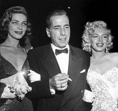 Lauren Bacall, Humphrey Bogart, Marilyn Monroe, c 1953.