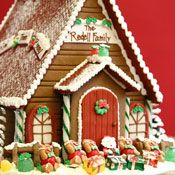 The Solvang Bakery: Personalized Christmas Gingerbread Houses. i want one!!!