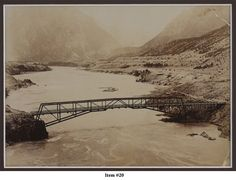 View of the old old bridge in Lillooet