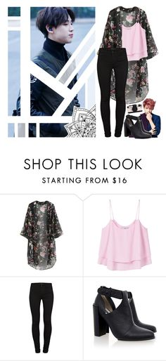 """Thai prince ~ BamBam~ Got7"" by brookiepooh131 ❤ liked on Polyvore featuring Bambam, MANGO, J Brand, Senso and Kate Spade"