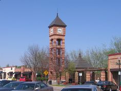 Clock Tower in Downtown Overland Park, Kansas