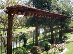 8 foot by 2 1/2 foot long garden pergolas | Small Garden Pergola | Skinny Garden Pergola | Small Garden Abor ...