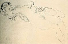 Mood Tonight - 35 Erotic Drawings by Gustav Klimt - Art-Sheep Life Drawing, Figure Drawing, Drawing Sketches, Painting & Drawing, Drawings, Henri De Toulouse Lautrec, Rodin, Klimt Art, Vienna Secession