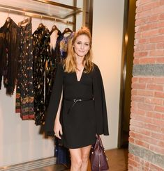 Olivia Palermo at Etro & Marchon Launch Night Outfits, Chic Outfits, Fashion Outfits, Fashion Fashion, Winter Outfits, Olivia Palermo Lookbook, Olivia Palermo Style, Carrie Bradshaw, All Black Outfit