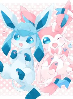 Extremely Cute Glaceon and Sylveon. Pokemon Comics, Pokemon Fan Art, Pikachu Funny, Pokemon Eevee Evolutions, Cute Pokemon Pictures, Cute Pokemon Wallpaper, Creature Drawings, Digimon, Anime Art