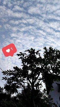 #sky #bluesky #langit #pohon #love #tag