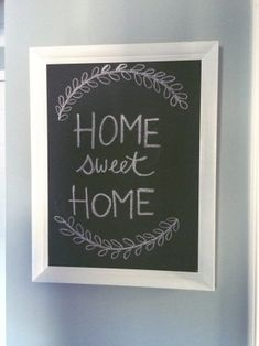 I'm Keisha from Loving Littles Blog and had created this chalkboard using handmade chalk paint and an old oil painting I bought at a local thrift store for $5!!…