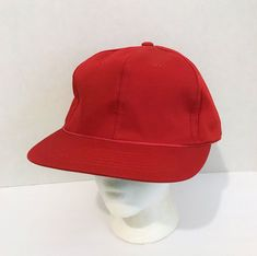 6aa0d8b2a54 Yupoong Mens Adjustable Snapback Blank No Logo Red Baseball Cap