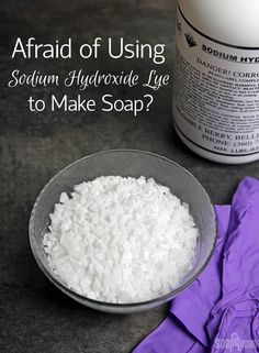 Are you hesitant to try cold process soapmaking because of the lye? This post has information on how to handle it safely!