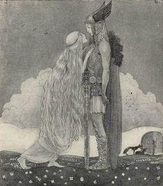 John Bauer - Nordic Myth and Fairytale Art and Illustration John Bauer, Fantasy Kunst, Fantasy Art, Art And Illustration, Animal Illustrations, Illustrations Posters, Guache, Fairytale Art, Norse Mythology