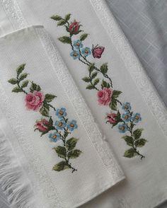 Ethamine towel samples Ethamine towel samples If you like to cross-stitch . 123 Cross Stitch, Cross Stitch Pillow, Cross Stitch Borders, Cross Stitch Flowers, Modern Cross Stitch, Cross Stitch Designs, Cross Stitching, Cross Stitch Patterns, Towel Embroidery