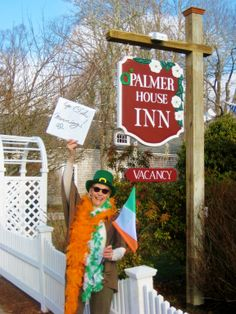 O'Palmer House Inn serving heartwarming Irish food and traditional Irish music in the parlor. Their St. Patrick's Day weekend package includes 2 nights in a king bedroom with a fireplace and Jacuzzi-style whirlpool tub, A $50. gift certificate to O'Anejo or O'La Cucina sul Mare restaurants with Irish-inspired food on the menu, an Irish breakfast (Cape Cod Style) each day of your stay, and freshly baked Irish oatmeal cookies as your afternoon refreshments all for $528.00 plus tax.