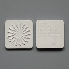 Otl Aicher and the 1972 Munich Olympics/ Ceramic Medal - Thank You