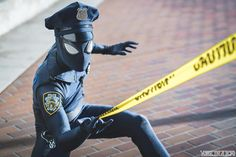 This guy made a SpiderCop cosplay and it rules! Part man part spider ALL COP! Marvel Girls, Marvel Dc, Marvel Funny, Logo Super Heros, Dc Comics, Man Parts, Spiderman Art, Wow Art, Spider Verse