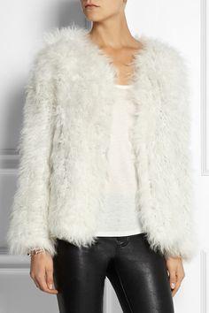 Ravn Knitted shearling jacket  NET-A-PORTER.COM