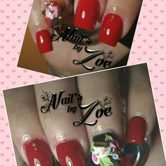 Tea cup and flowers #nail_by_zoe