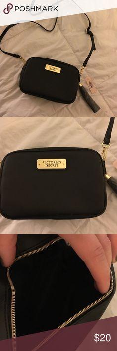 Victoria Secret all black satchel! Perfect going out satchel, with dangling tassel. Adjusts to numerous strap sizes Victoria's Secret Bags Satchels