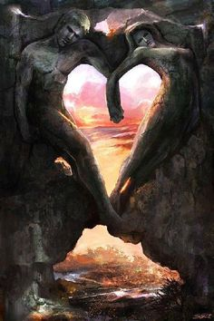 """""""If you become a helper of hearts, springs of wisdom will flow from your heart.""""~Rumi, translated by Nevit O. Ergin Image Soul Mates by Steve Goad Heart In Nature, Heart Art, I Love Heart, With All My Heart, Twin Flame Love, Twin Flames, Twin Souls, Heart Images, Felt Hearts"""