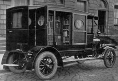 Early bookmobile, Perth Australia