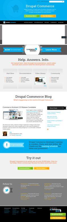 Drupal Commerce - Drupal 7 Omega responsive theme. Multiple regions, interesting use of footer