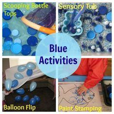 Blue Things pre k color blue activities Color Blue Activities, Preschool Color Theme, Preschool Color Activities, Kindergarten Colors, Preschool Activities, Blue Crafts, Color Crafts, Color Of The Week, Teaching Colors