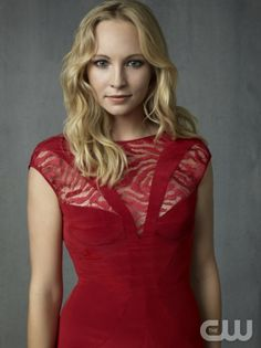 The Vampire Diaries -- Pictured: Candice Accola as Caroline -- Image Number: VD4_Caroline_Grey_1238rd.jpg -- Photo: Justin Stephens/The CW -- © 2013 The CW Network, LLC. All rights reserved.