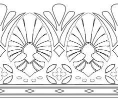 This would make a great thigh garter style tattoo!!!Zelda hyrule warrior bottom skirt pattern by soie-yoie.deviantart.com on @DeviantArt