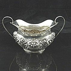 Sterling Silver Sugar Bowl, Chester 1907.