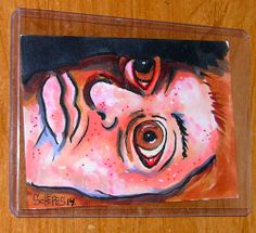 GRIMM SKETCH CARD 1 ONE OF A KIND FULL COLOR BEEWARE ORIGINAL SCHERES