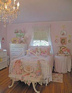 Pink feminine bedroom