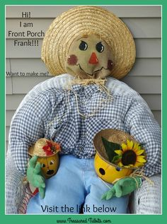 Zero Budget Scarecrow How-To Facebook Pic, Fall Scarecrows, Burlap Bags, Home Organization Hacks, Leaf Art, Fall Diy, Pumpkin Decorating, Simple House, Fun Projects