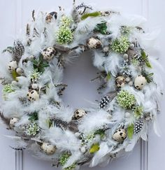 / Zboží prodejce Flowers and Easter Wreaths, Christmas Wreaths, Christmas Decorations, Holiday Decor, Eastern Holiday, Ester Decoration, Diy Fall Wreath, Easter Flowers, Easter Crafts