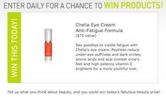 April 4th -- Today's 365 Days of Beauty #Giveaway: Win Chella's eye cream valued at $75 and you can say goodbye to visible fatigue such as under-eye puffiness and dark circles. Click to enter and #win now!
