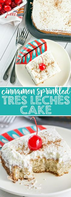 Tres Leches Cake: a simple vanilla sponge cake soaked in a sweet three-milk glaze and covered with fresh whipped cream.  It's the perfect end to a spicy Mexican feast or your Cinco de Mayo celebrations! {Bunsen Burner Bakery} via @bnsnbrnrbakery