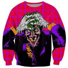 The Joker Sweatshirt villainous joker notorious grin jumper Women Men Unisex Sweats Outfits Hip Hop Hoodies plus size Joker Sweatshirt, Joker T Shirt, Graphic Sweatshirt, Hogwarts Sweatshirt, Printed Sweatshirts, Printed Shirts, T Shirts, Hoodies, Sweats Outfit