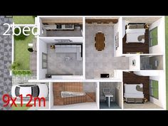 House Plans with 4 bedrooms. House description: Number of floors 2 storey house bedroom 3 rooms toilet rooms maid's room 1 room Parking 1 car useful space --sq. Duplex House Plans, Simple House Design, Bungalow House Design, Minimalist House Design, Modern House Plans, Small House Plans, House Floor Plans, Villas, 2 Bedroom House Plans