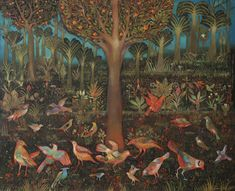 View Bids of paradise by Suad Al-Attar on artnet. Browse upcoming and past auction lots by Suad Al-Attar. Paradise Garden, Garden Of Eden, Global Art, Art Market, Figurative Art, Past, Birds, Clouds, Artist