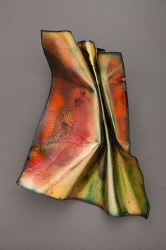 Christine Finch, Homage to Helen, enameled copper, 13 x 9 x 4 inches, 2014