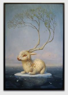 [Vernus  Martin Wittfooth (Found this is my Hi*Fructose magazine)]  The Lamb that was slain+The tree of life?