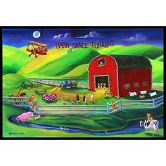 Caroline's Treasures Corgi Barn Dance Doormat Rug Size: