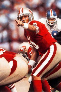 49ers Players, Nfl Football Players, Football Helmets, Forty Niners, Sf Niners, Nfl 49ers, Joe Montana, Nfl History, Football Photos