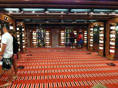 One of the ship's lobbies.