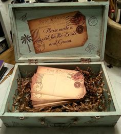 This is a wonderful wedding guest book alternative. Makes it fun for your guests to leave words of advice or well wishes for the bride and groom. Comes