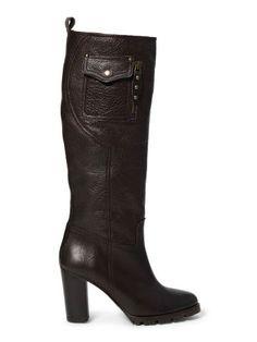 Mora Knee-High Leather Boot - Polo Ralph Lauren Boots - RalphLauren.com
