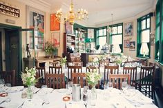 pub wedding reception at The Peasant, Clerkenwell in London