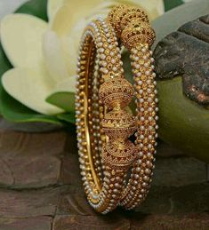 Antique bangles INR 599 / pair plus shipping Direct message us for orders and queries Online payment mode (No COD) . Gold Bangles Design, Gold Jewellery Design, Gold Jewelry, Fine Jewelry, Designer Jewelry, Stylish Jewelry, Fashion Jewelry, Ring Set, Indian Jewelry