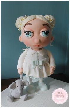 Effie and her elephant by  Utterly Charming Cakes