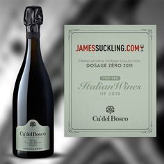 """Thank you James Suckling for including us among the Top 100 Italian Wines 2016: """"An absolutely beautiful Franciacorta showing fine bubbles, intense bread dough and dried-fruit character. Full-bodied, bright and fruity with a long and flavorful finish. A pretty balance between richness and freshness. Drink now."""" #enjoycadelbosco #jamessuckling #top100italianwinesof2016"""
