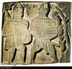 Military, Turks, Seljuk Warriors, Relief, 13th Century, Museum