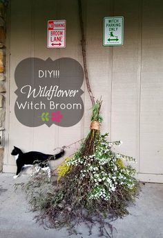 After making our popular DIY Sparkly Witch Broom , we decided to make something a little different-yet-still-classy this. Witches Night Out, Low Maintenance Garden Design, Autumn Witch, Rock Garden Design, Wiccan Crafts, Pagan Art, Witch Broom, Witch Decor, Crafty Craft